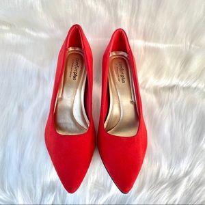 "Comfort Plus by Predictions 3 1/2"" Red Heels Sz 12"